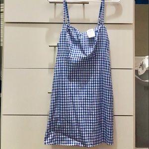 Blue gingham dress from Windsor's.